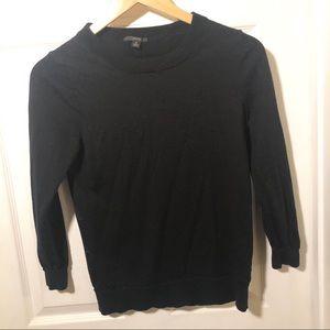 J. Crew Black Tippi Sweater Classic solid